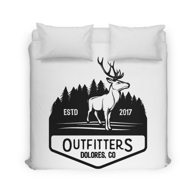 Outfitters Deer Logo Home Duvet by dolores outfitters's Artist Shop