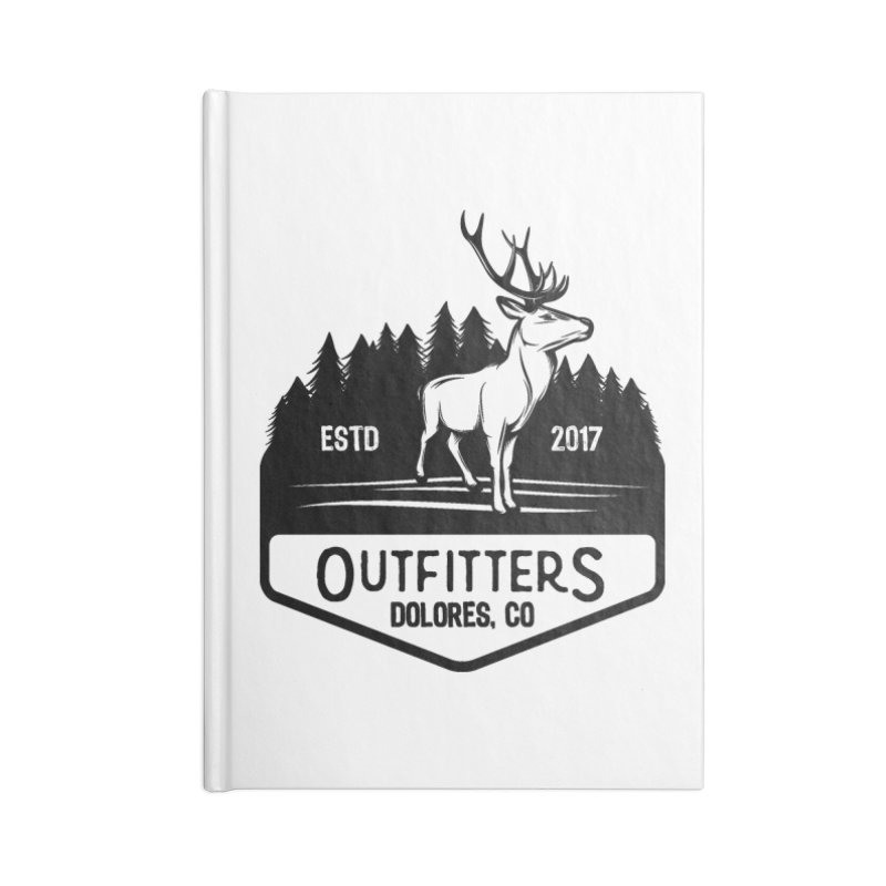 Outfitters Deer Logo Accessories Lined Journal Notebook by dolores outfitters's Artist Shop