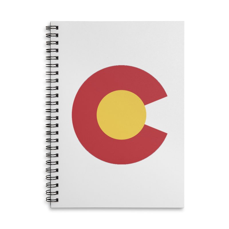 Colorado Accessories Lined Spiral Notebook by dolores outfitters's Artist Shop