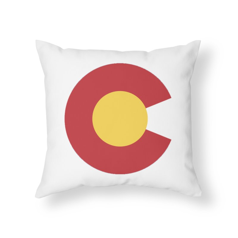 Colorado Home Throw Pillow by dolores outfitters's Artist Shop
