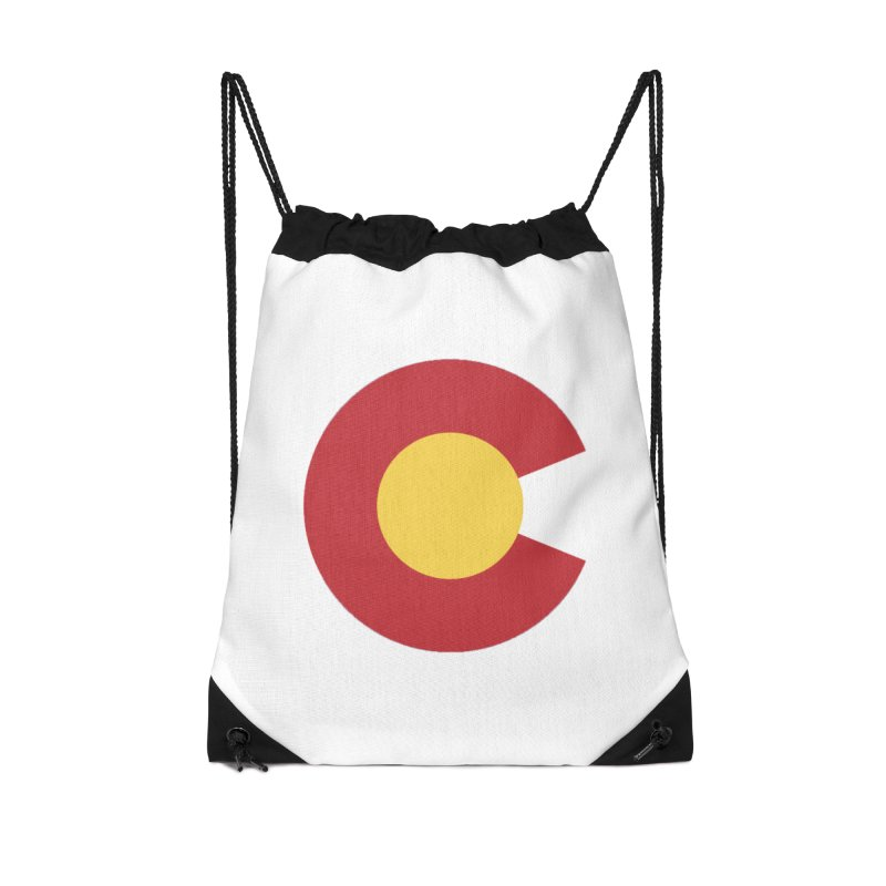 Colorado Accessories Drawstring Bag Bag by dolores outfitters's Artist Shop