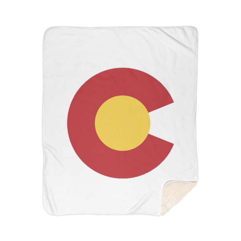 Colorado Home Sherpa Blanket Blanket by dolores outfitters's Artist Shop