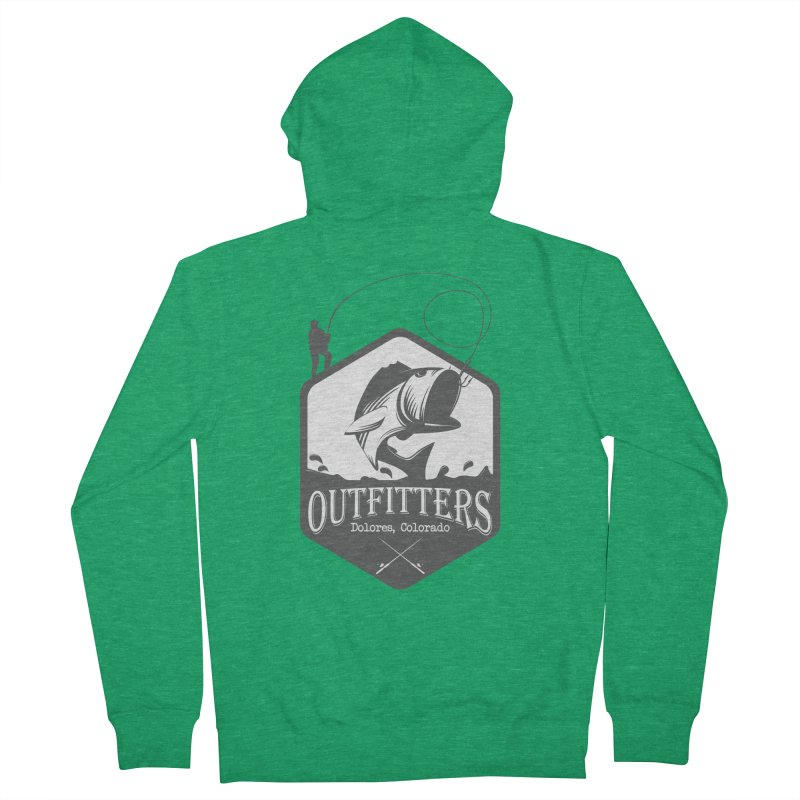 Outfitters Fishing Men's Zip-Up Hoody by dolores outfitters's Artist Shop