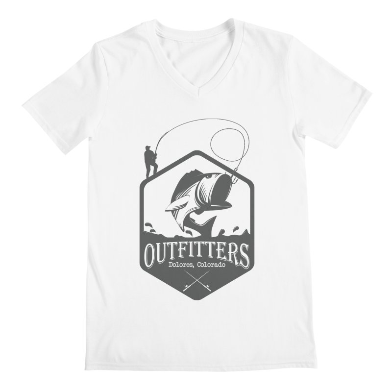 Outfitters Fishing Men's V-Neck by dolores outfitters's Artist Shop
