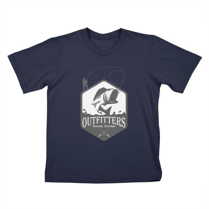 Outfitters Fishing Kids T-Shirt by dolores outfitters's Artist Shop