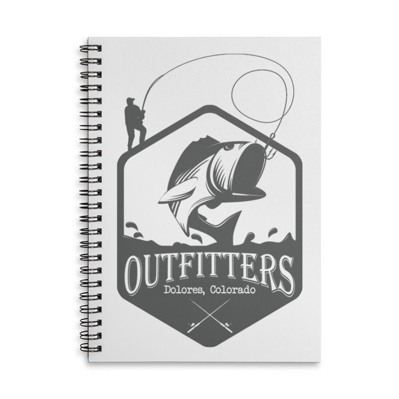 Outfitters Fishing Accessories Lined Spiral Notebook by dolores outfitters's Artist Shop