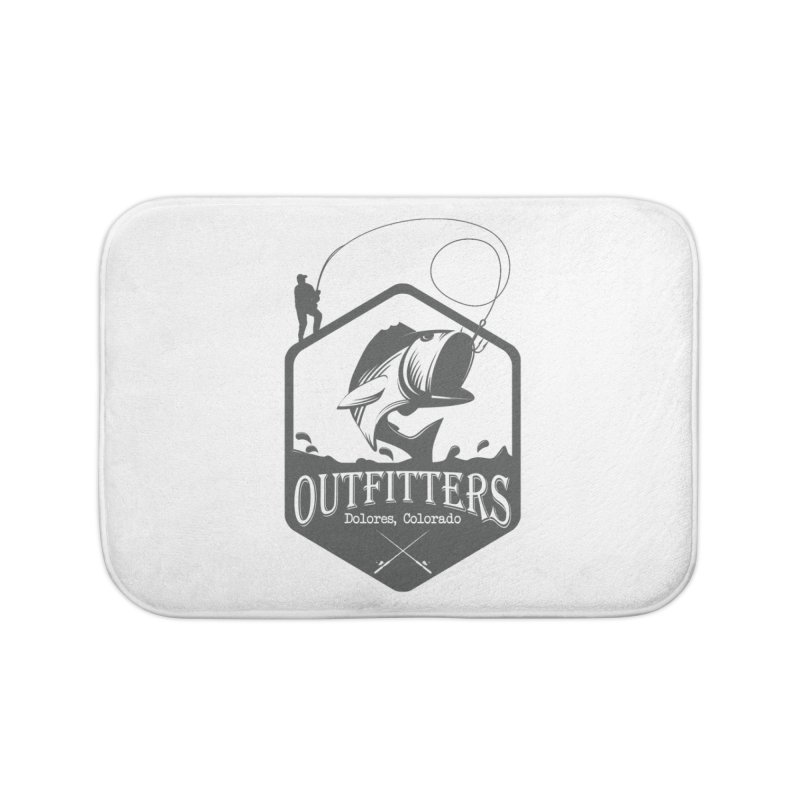 Outfitters Fishing Home Bath Mat by dolores outfitters's Artist Shop
