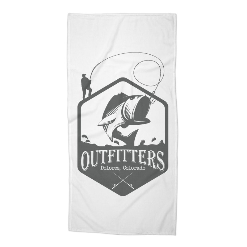 Outfitters Fishing Accessories Beach Towel by dolores outfitters's Artist Shop