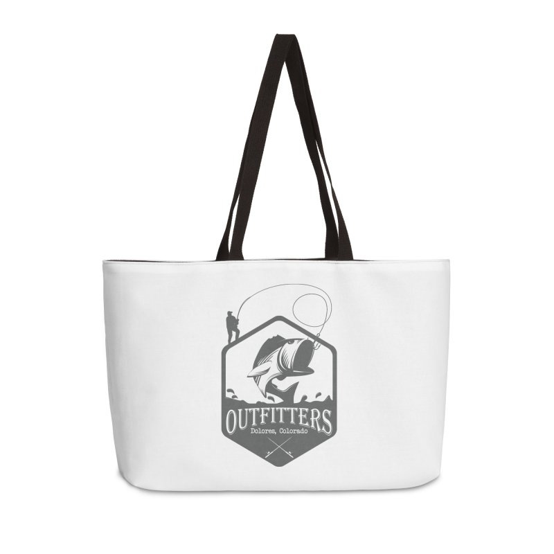 Outfitters Fishing Accessories Weekender Bag Bag by dolores outfitters's Artist Shop