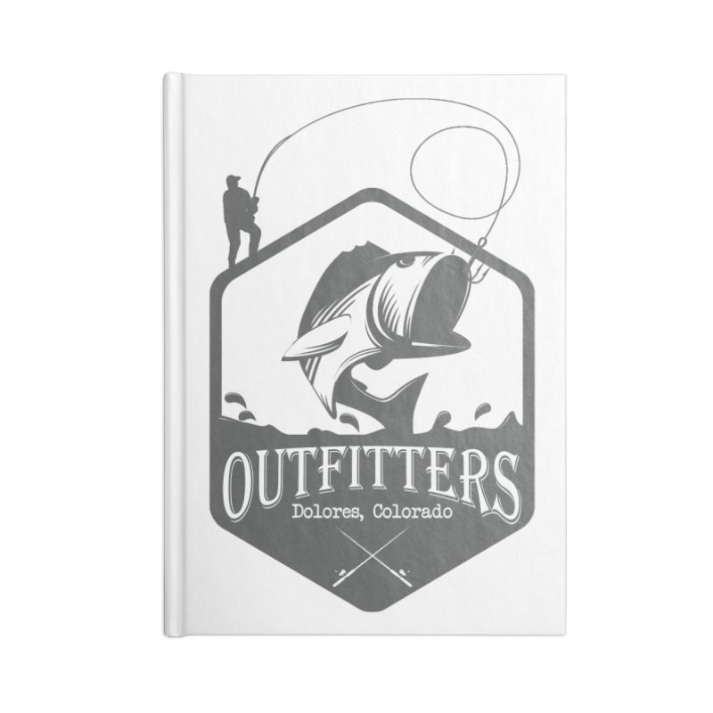 Outfitters Fishing Accessories Lined Journal Notebook by dolores outfitters's Artist Shop