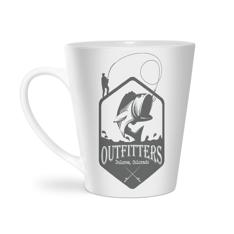 Outfitters Fishing Accessories Latte Mug by dolores outfitters's Artist Shop