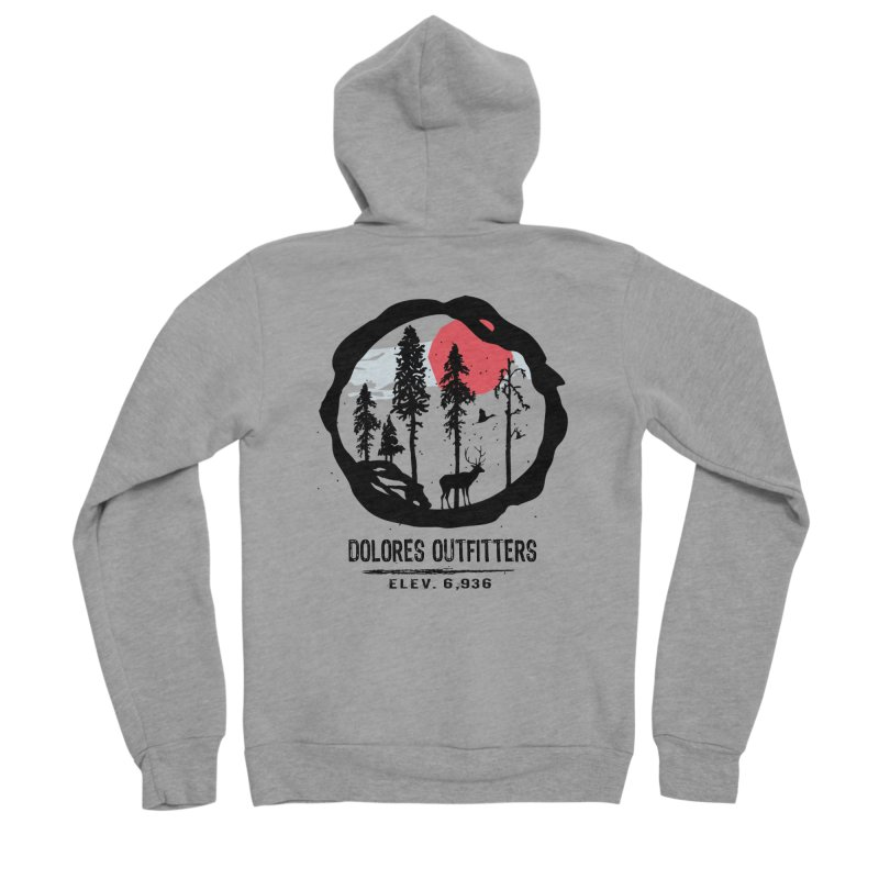 Outfitters Nature Men's Sponge Fleece Zip-Up Hoody by dolores outfitters's Artist Shop