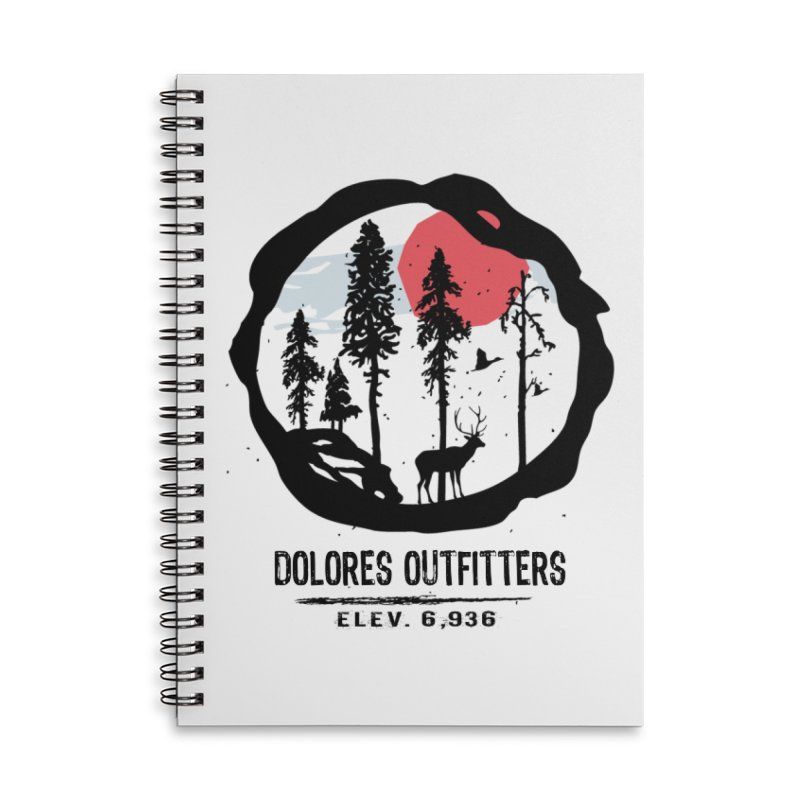 Outfitters Nature Accessories Lined Spiral Notebook by dolores outfitters's Artist Shop
