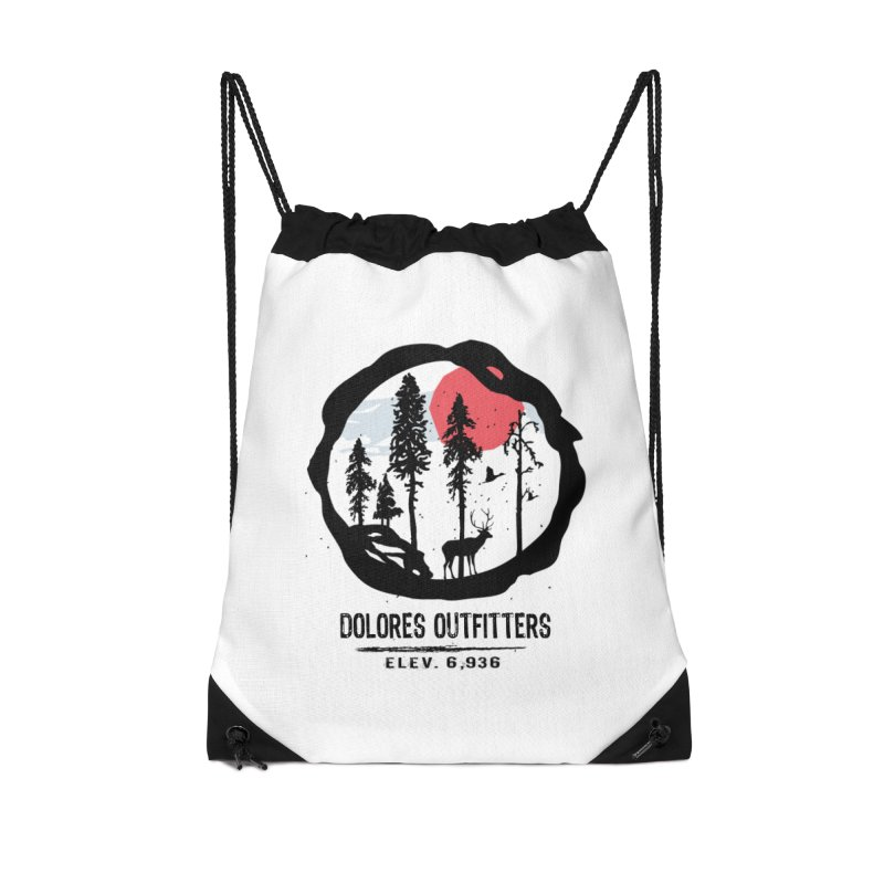 Outfitters Nature Accessories Drawstring Bag Bag by dolores outfitters's Artist Shop