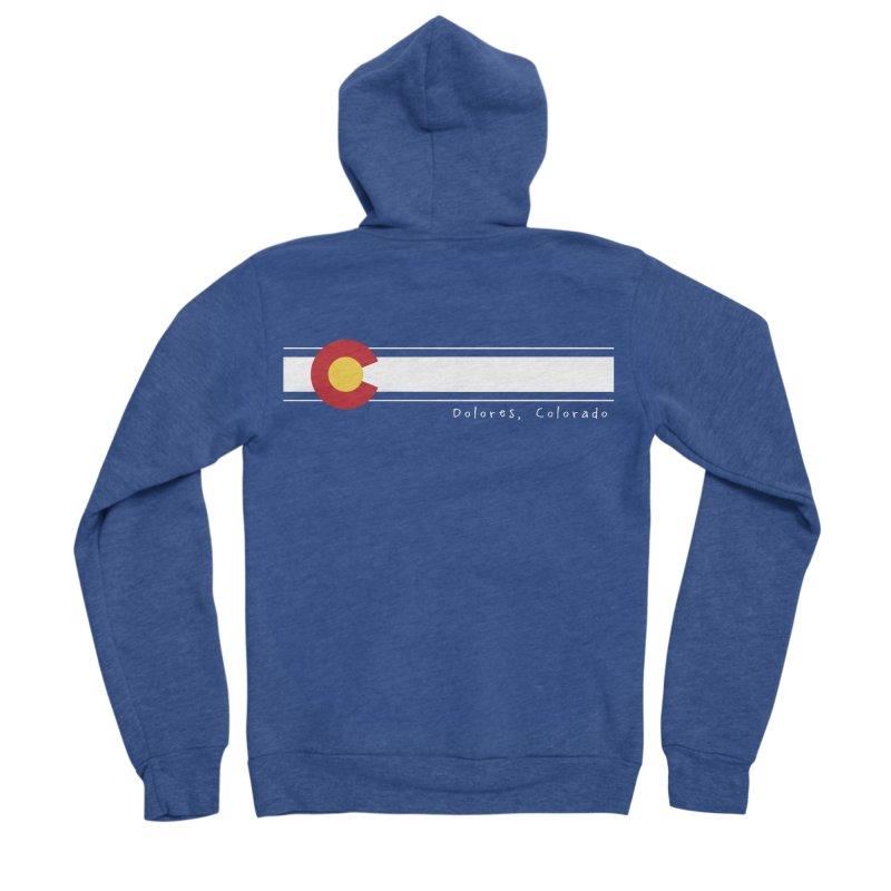 Colorado Flag Men's Sponge Fleece Zip-Up Hoody by dolores outfitters's Artist Shop
