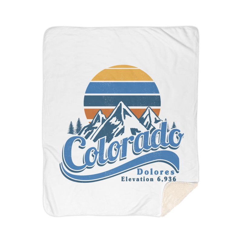 Dolores Colorado Home Sherpa Blanket Blanket by dolores outfitters's Artist Shop