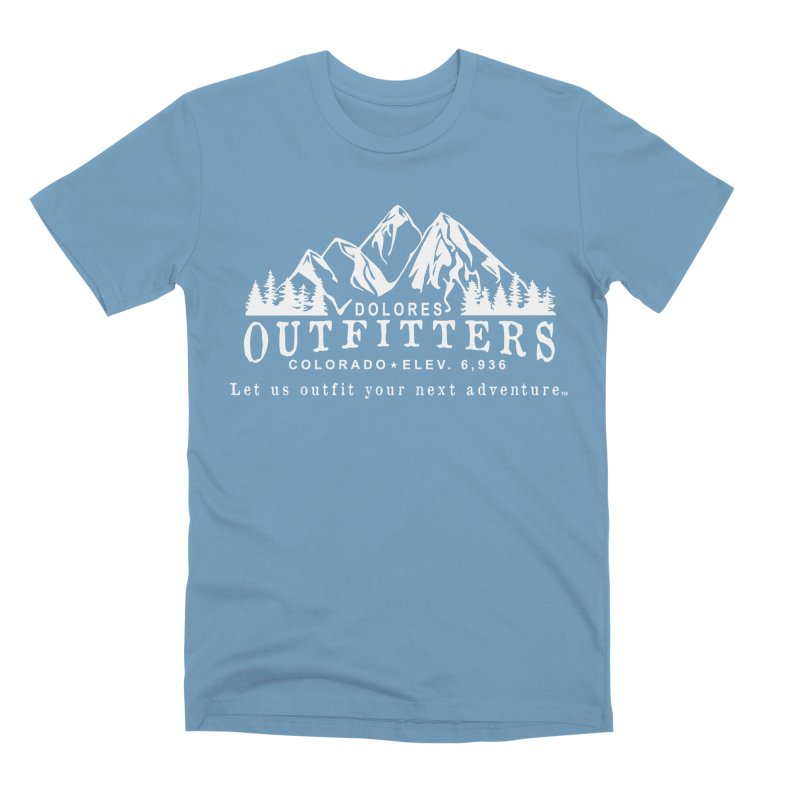 Dolores Outfitters Logo - White Men's Premium T-Shirt by dolores outfitters's Artist Shop
