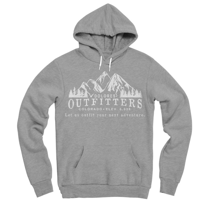 Dolores Outfitters Logo - White Men's Sponge Fleece Pullover Hoody by dolores outfitters's Artist Shop