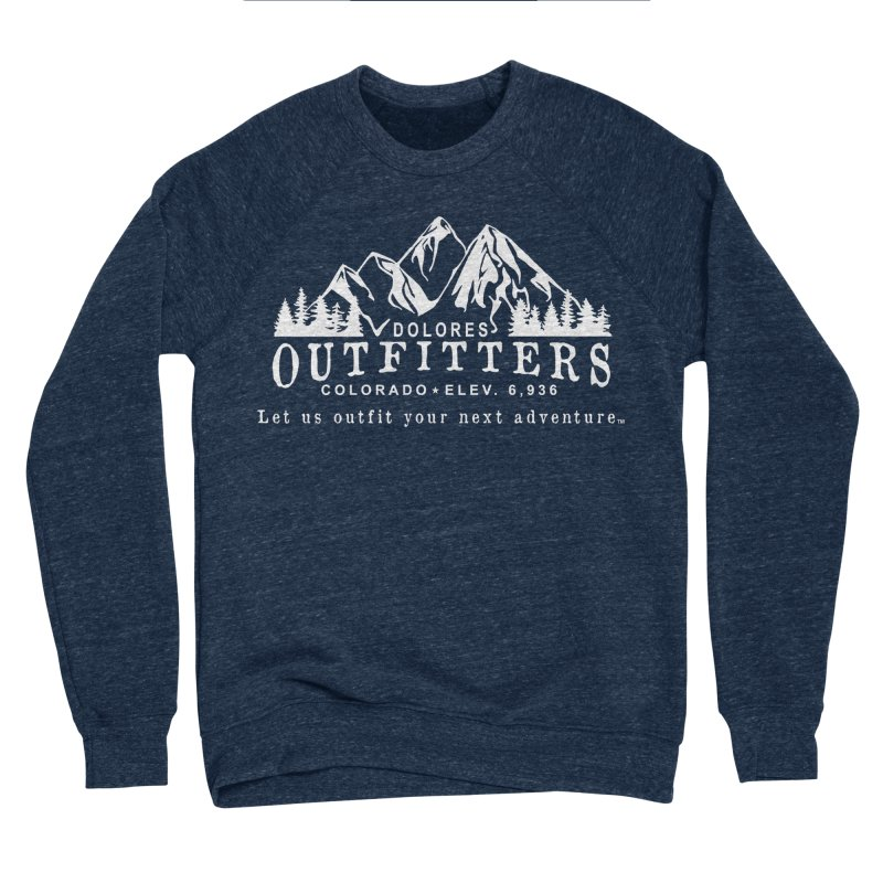 Dolores Outfitters Logo - White Men's Sponge Fleece Sweatshirt by dolores outfitters's Artist Shop