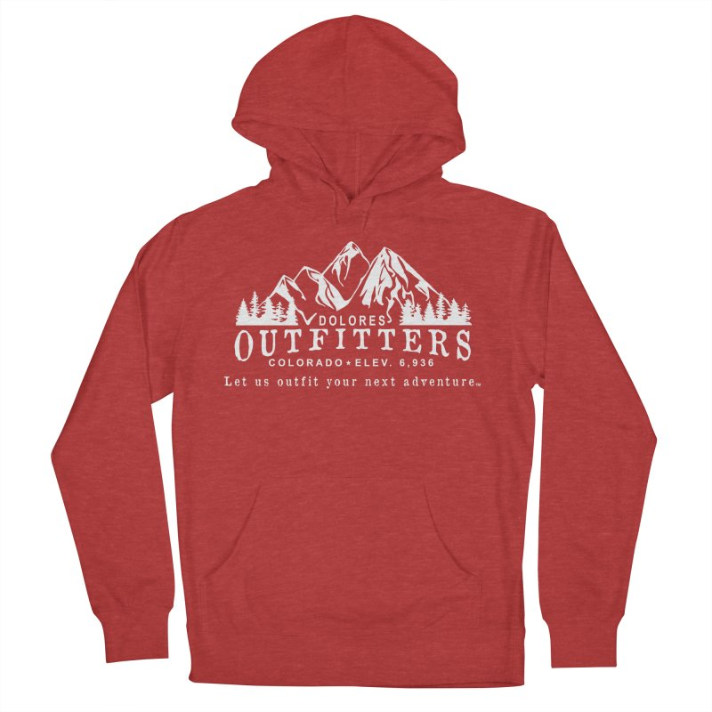 Dolores Outfitters Logo - White Men's French Terry Pullover Hoody by dolores outfitters's Artist Shop