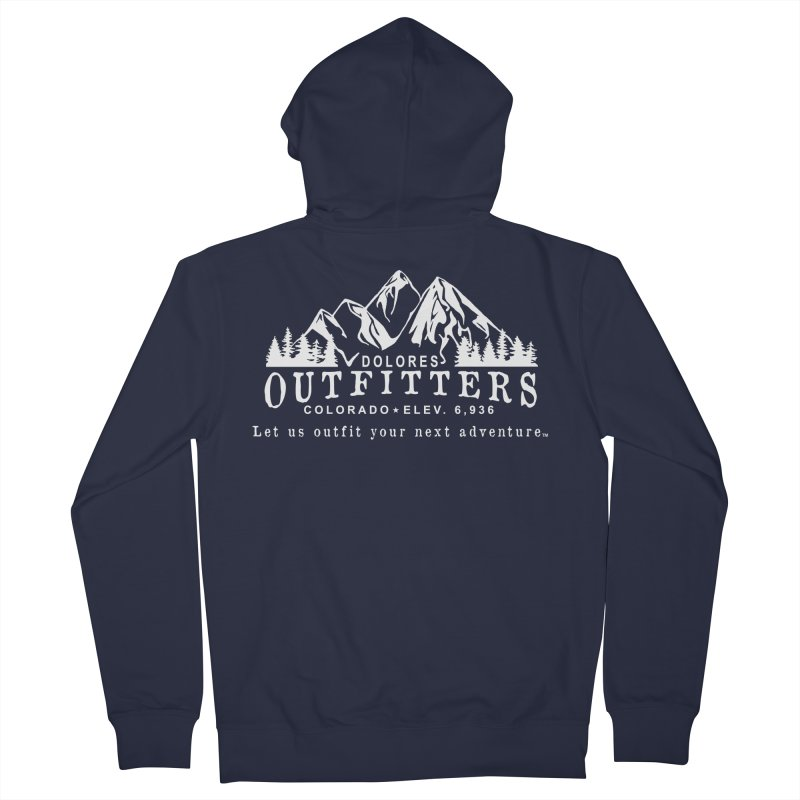 Dolores Outfitters Logo - White Women's French Terry Zip-Up Hoody by dolores outfitters's Artist Shop
