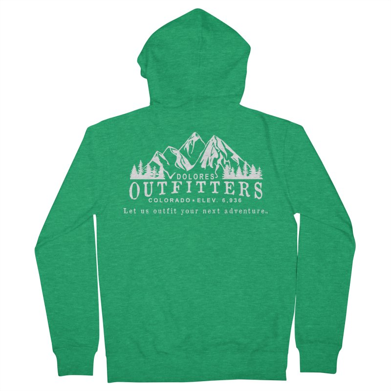 Dolores Outfitters Logo - White Men's Zip-Up Hoody by dolores outfitters's Artist Shop