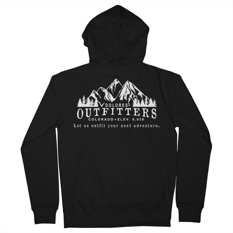 Dolores Outfitters Logo - White Men's French Terry Zip-Up Hoody by dolores outfitters's Artist Shop