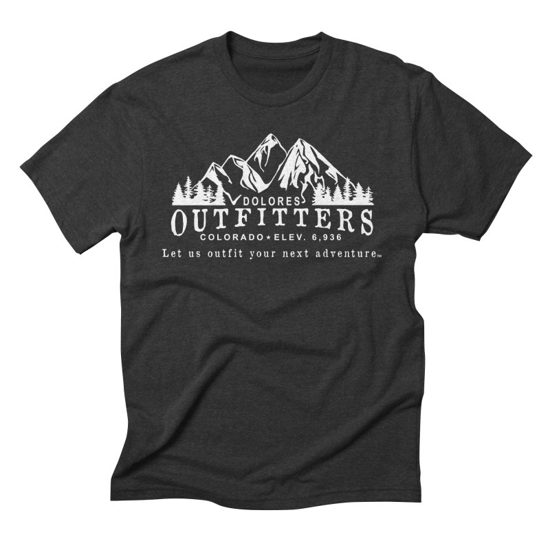 Dolores Outfitters Logo - White in Men's Triblend T-Shirt Heather Onyx by dolores outfitters's Artist Shop