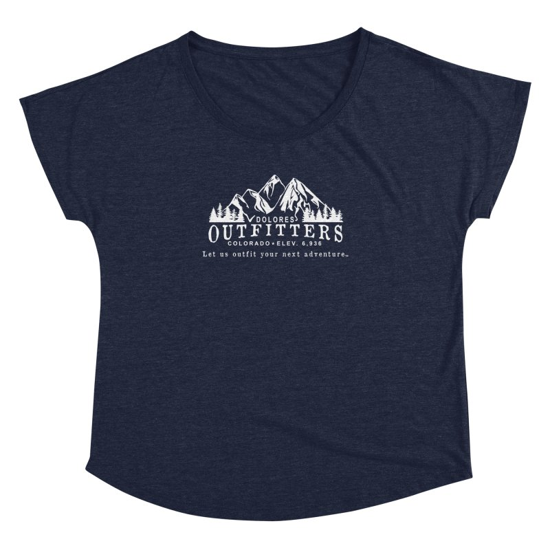 Dolores Outfitters Logo - White Women's Dolman Scoop Neck by dolores outfitters's Artist Shop