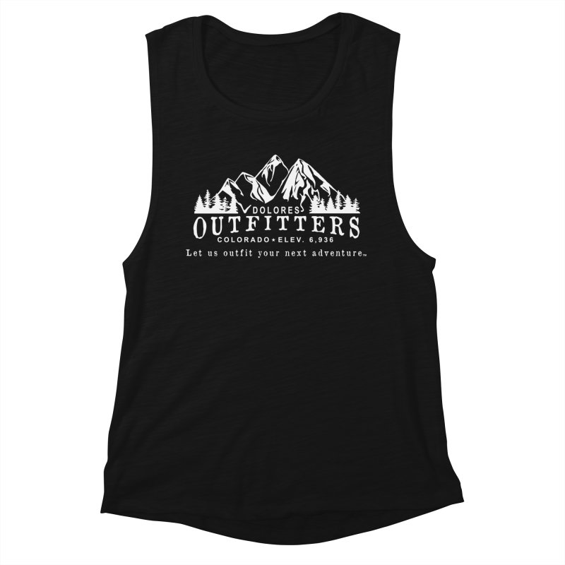 Dolores Outfitters Logo - White Women's Muscle Tank by dolores outfitters's Artist Shop