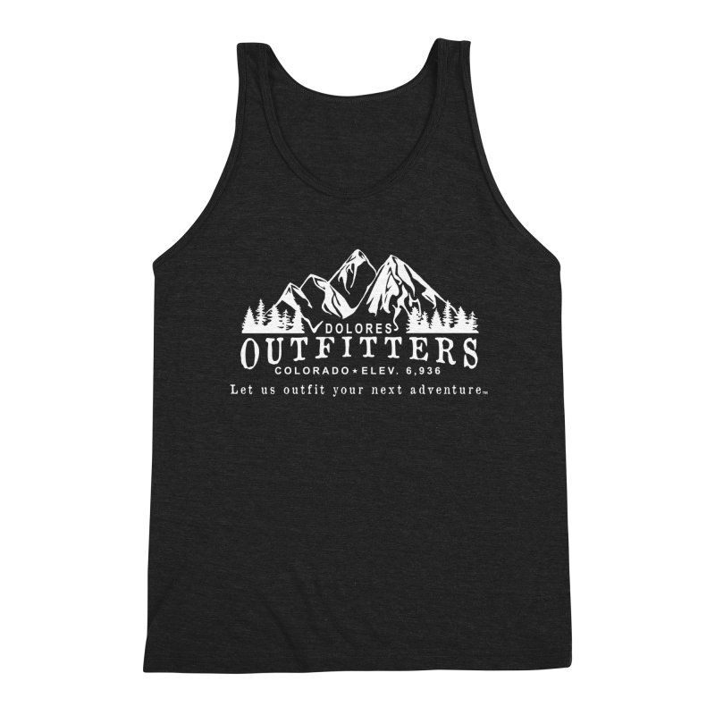 Dolores Outfitters Logo - White Men's Triblend Tank by dolores outfitters's Artist Shop