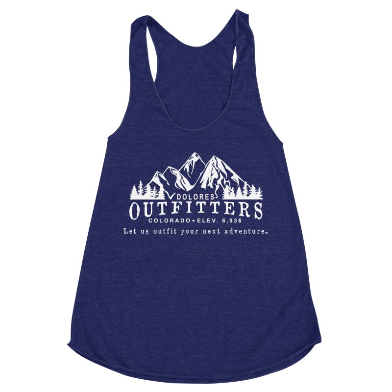 Dolores Outfitters Logo - White Women's Racerback Triblend Tank by dolores outfitters's Artist Shop
