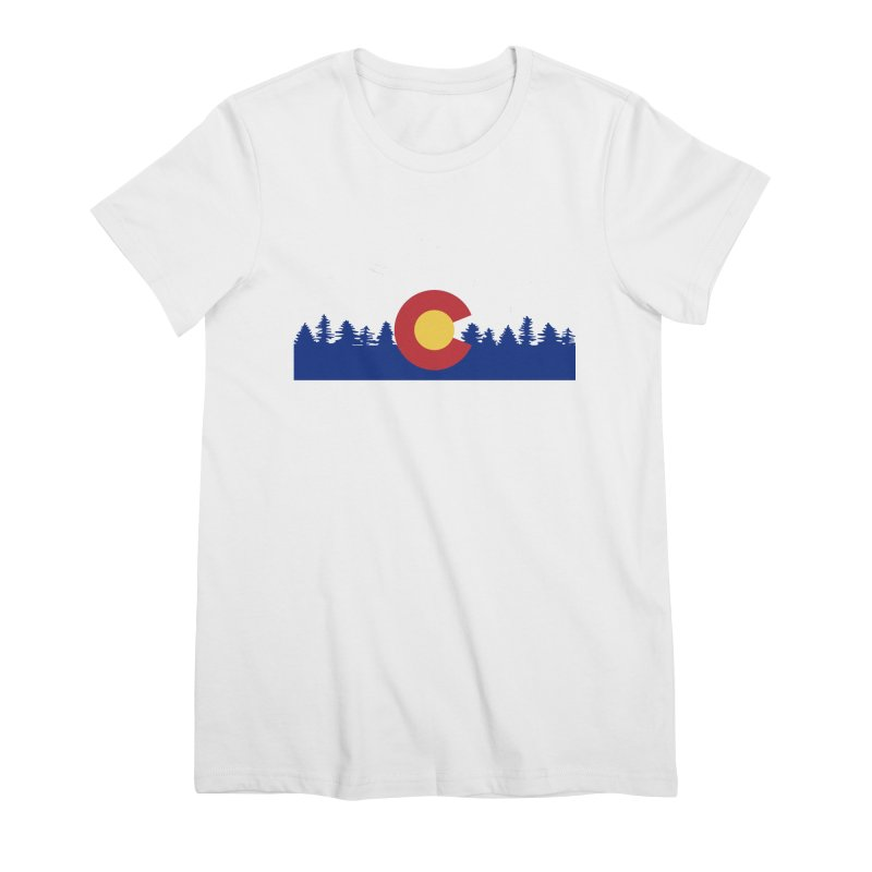 Outfitters Colorado Logo Women's Premium T-Shirt by dolores outfitters's Artist Shop