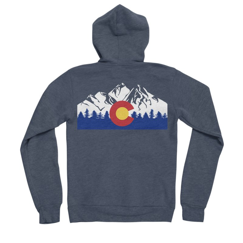 Outfitters Colorado Logo Men's Sponge Fleece Zip-Up Hoody by dolores outfitters's Artist Shop