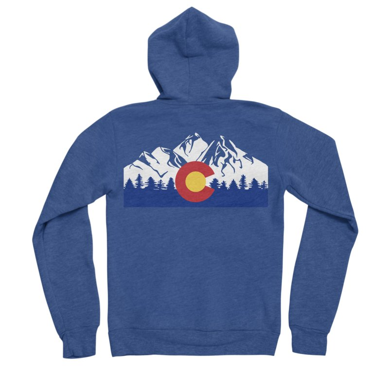 Outfitters Colorado Logo Women's Sponge Fleece Zip-Up Hoody by dolores outfitters's Artist Shop