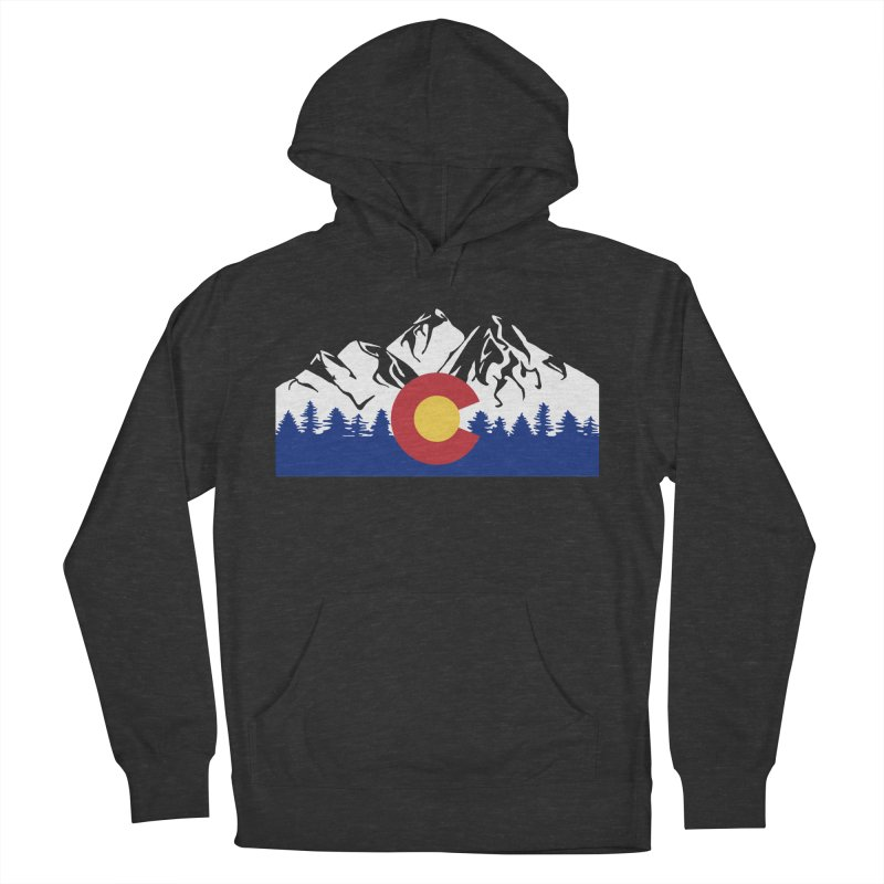 Outfitters Colorado Logo Men's French Terry Pullover Hoody by dolores outfitters's Artist Shop
