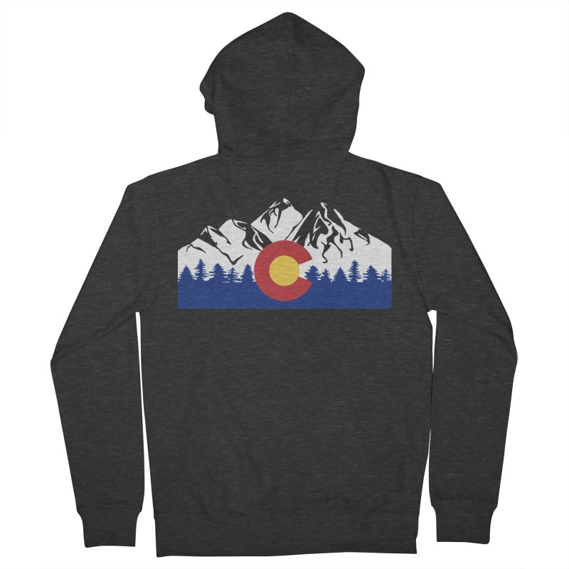 Outfitters Colorado Logo Men's French Terry Zip-Up Hoody by dolores outfitters's Artist Shop
