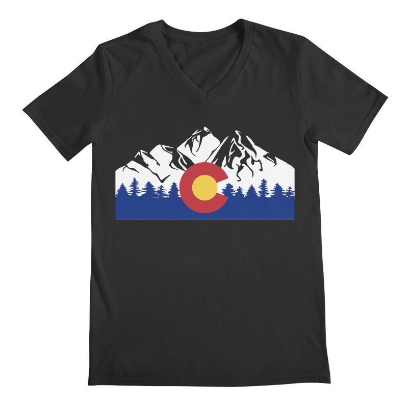 Outfitters Colorado Logo Men's Regular V-Neck by dolores outfitters's Artist Shop