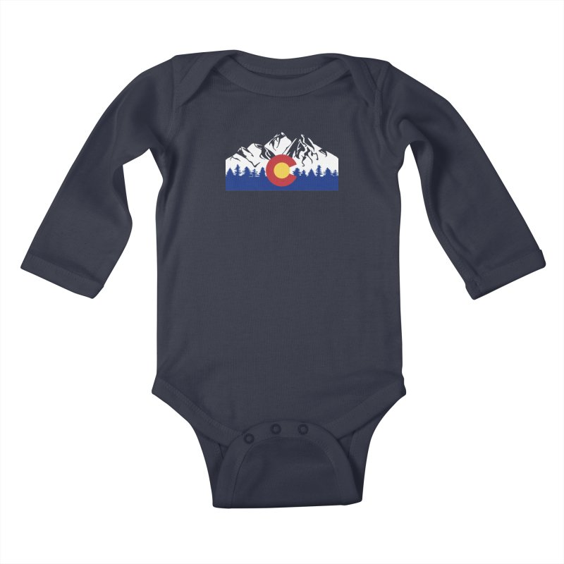 Outfitters Colorado Logo Kids Baby Longsleeve Bodysuit by dolores outfitters's Artist Shop