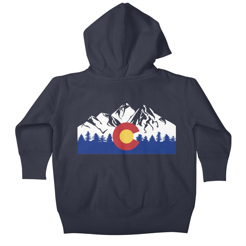 Outfitters Colorado Logo Kids Baby Zip-Up Hoody by dolores outfitters's Artist Shop