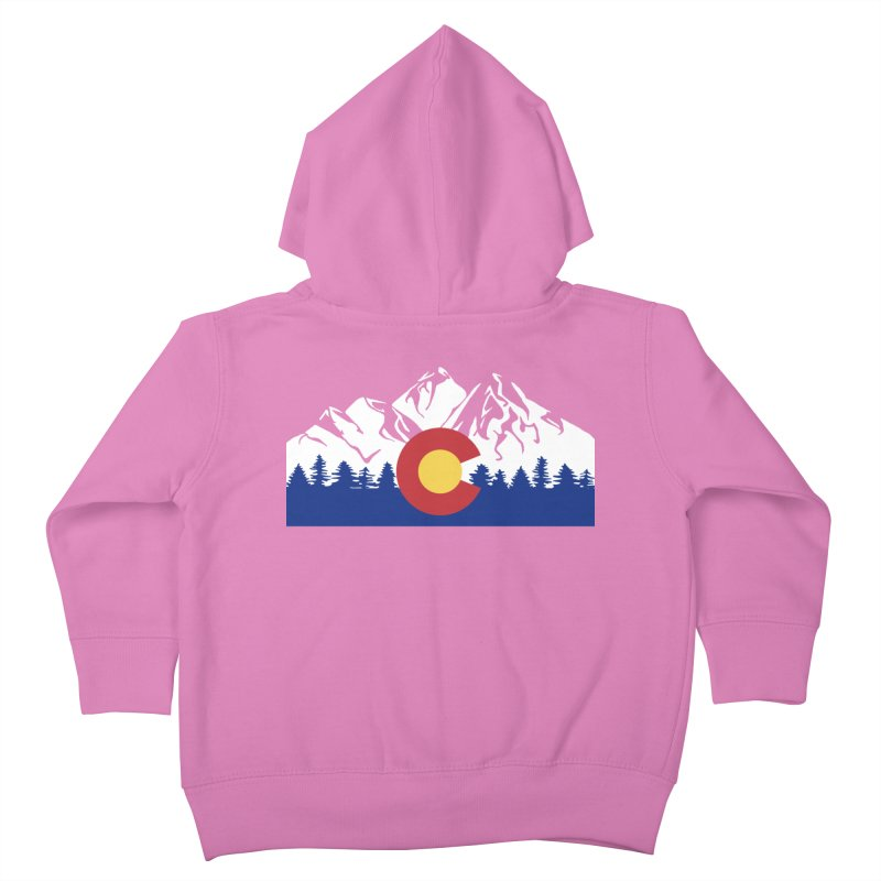 Outfitters Colorado Logo Kids Toddler Zip-Up Hoody by dolores outfitters's Artist Shop