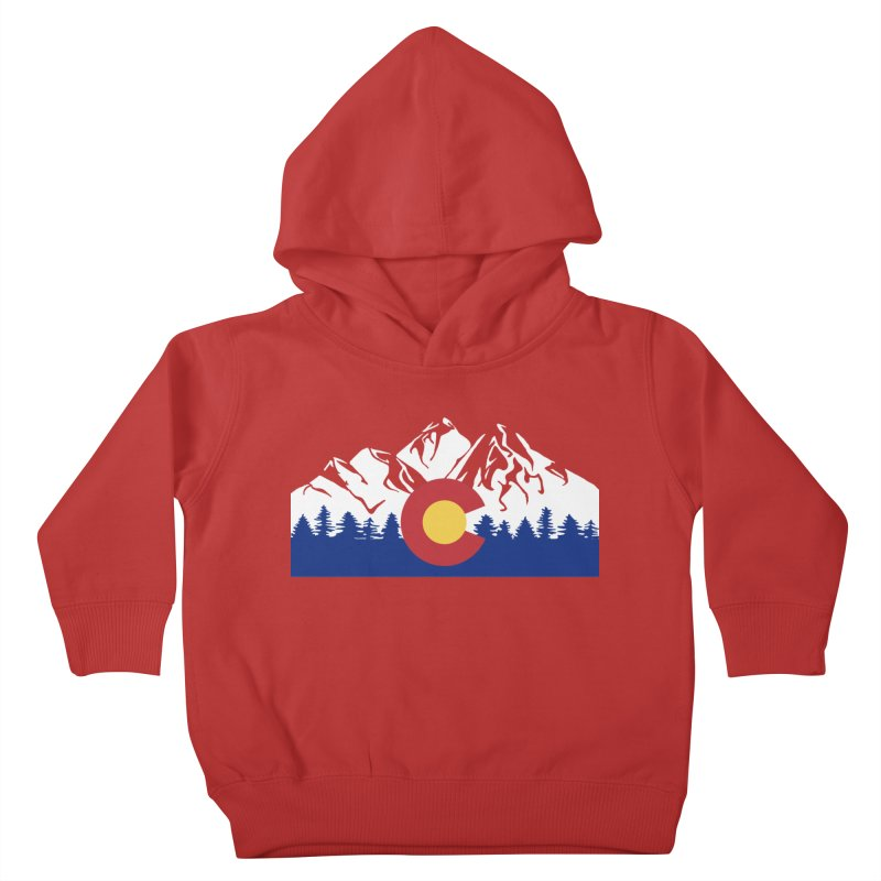 Outfitters Colorado Logo Kids Toddler Pullover Hoody by dolores outfitters's Artist Shop