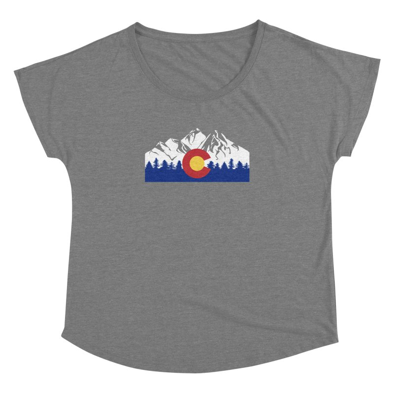 Outfitters Colorado Logo Women's Dolman Scoop Neck by dolores outfitters's Artist Shop
