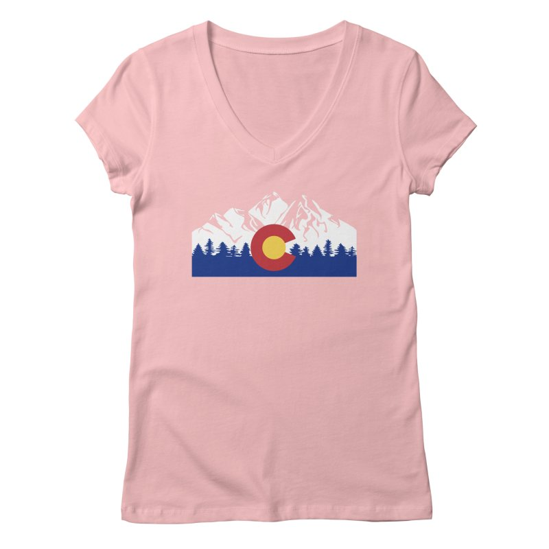 Outfitters Colorado Logo Women's Regular V-Neck by dolores outfitters's Artist Shop