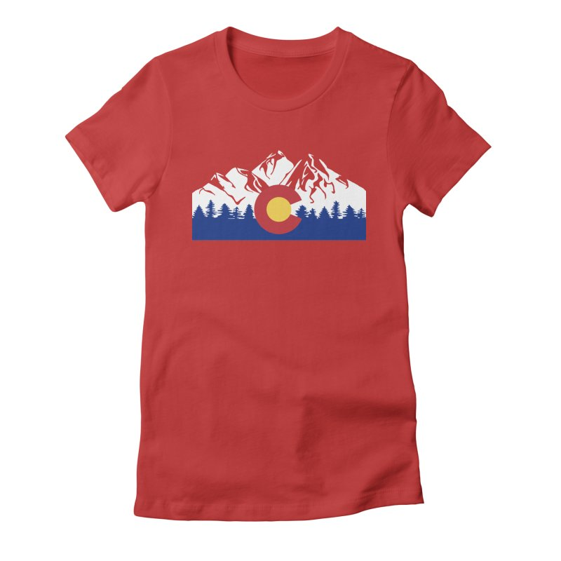 Outfitters Colorado Logo Women's Fitted T-Shirt by dolores outfitters's Artist Shop