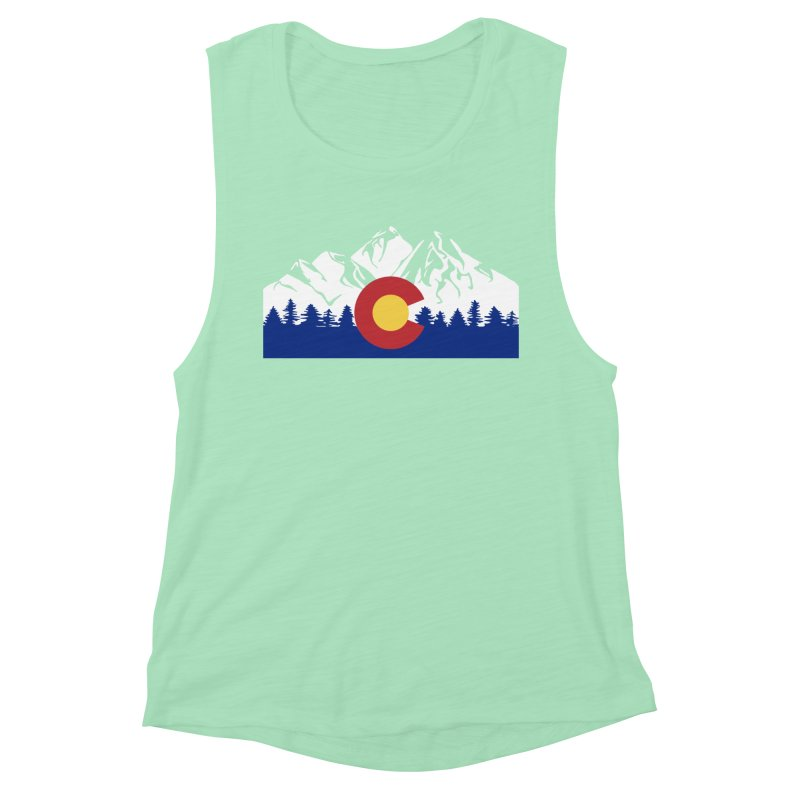 Outfitters Colorado Logo Women's Muscle Tank by dolores outfitters's Artist Shop