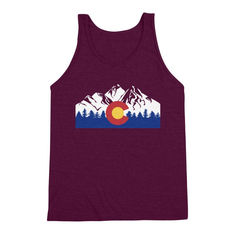 Outfitters Colorado Logo Men's Triblend Tank by dolores outfitters's Artist Shop