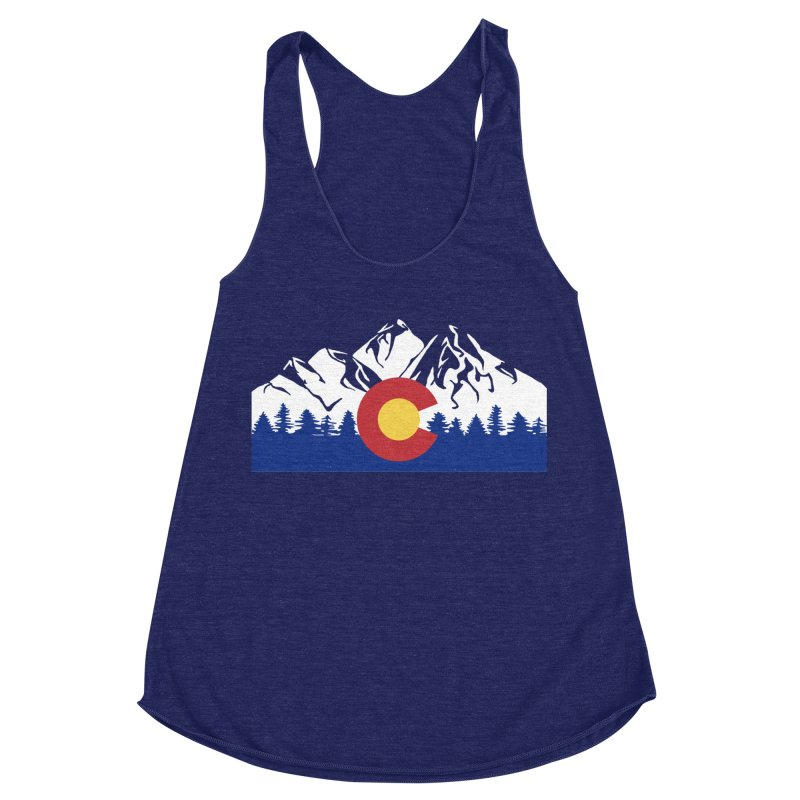 Outfitters Colorado Logo Women's Racerback Triblend Tank by dolores outfitters's Artist Shop