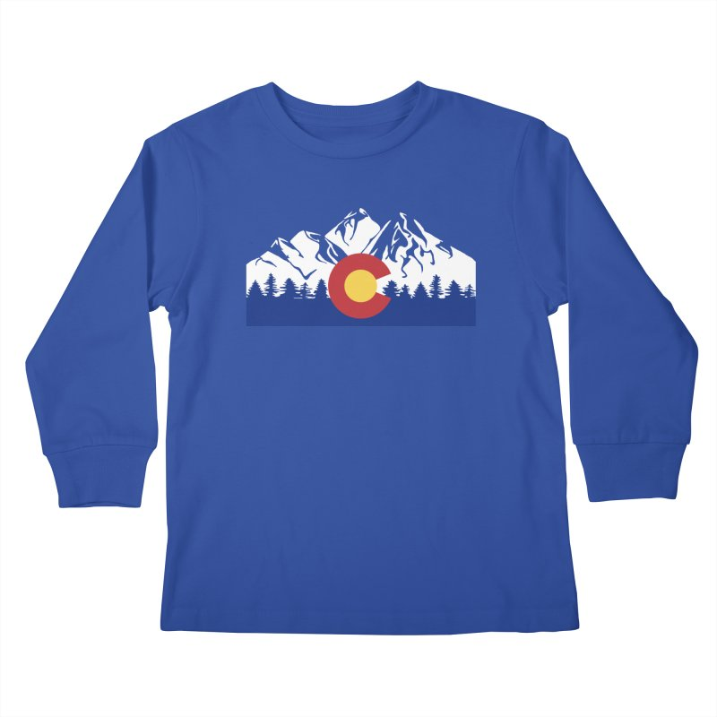 Outfitters Colorado Logo Kids Longsleeve T-Shirt by dolores outfitters's Artist Shop