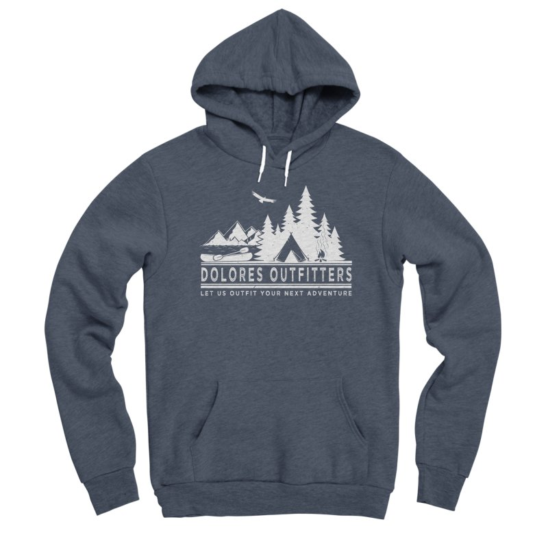 Outfitters Camp in Men's Sponge Fleece Pullover Hoody Heather Indigo by dolores outfitters's Artist Shop
